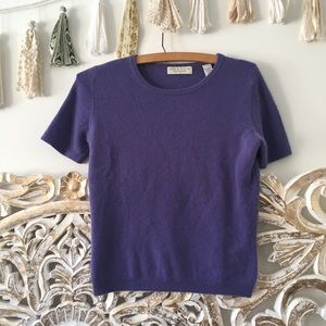 Lord & Taylor Purple Cashmere Top